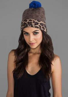 MARC BY MARC JACOBS Lenora Leopard Hat in Chicory Brown Multi - Hats