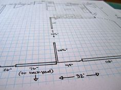 How to draw a floor plan. To help me lay out my kitchen remodel