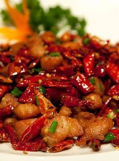 Chicken with Sichuan pepper and chilli - from The Century, Sydney.