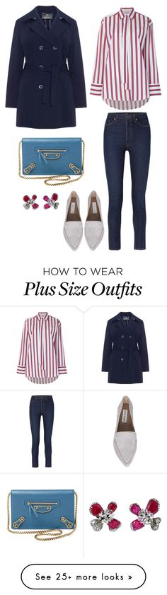 """Untitled #1941"" by rubysparks90 on Polyvore featuring MSGM, Khaite, Steve Madden, Balenciaga and Arunashi"