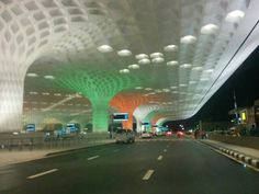 T2 Mumbai Airport - With Architecture , Mumbai city speaks colour which are neutrals and pastels too.