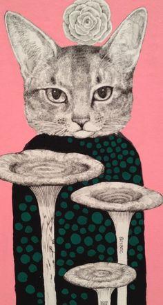Yuko Higuchi Higuchiyuuko https://www.facebook.com/burnetmoth paddestoelen Tentoonstelling