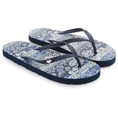 Accessorize Kalani Plait EVA Flip Flops (19 CAD) ❤ liked on Polyvore featuring shoes, sandals, flip flops, heart shoes, woven sandals, floral print sandals, floral flat shoes and floral shoes