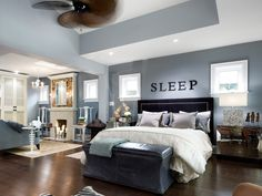 Awesome headboard by HGTV's Candice Olson. Also love the rest of the room!