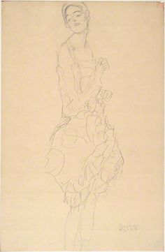 Standing Dancer with Her Head Tilted to the Side (Study for The Dancer), Gustav Klimt, 1916–17. Albertina, Vienna