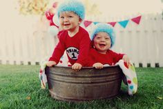 Thing 1 and Thing 2 Costume by Mudpies & Dragonflies. $44.00, via Etsy.