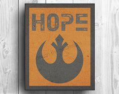 Star Wars Rebel Symbol - HOPE.  #StarWars #geek