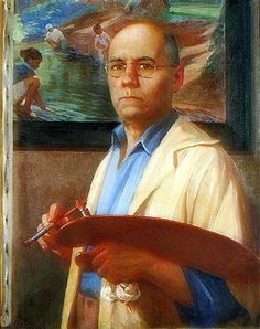 Self-portrait of Miguel Pou: Miguel Pou Becerra  (24 August 1880 - 6 May 1968) was a Puerto Rican oil canvas painter, draftsman, and art professor.