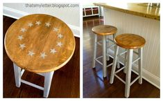 How to Cut Bar Stools Down to Counter Height Stools