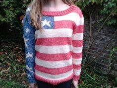 Amerikaanse vlag trui van stonewash Scheepjes katoen