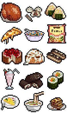 fast food pixel art box - ค้นหาด้วย Google