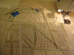 quilting with rulers on a sewing machine ~~I'm going to have to look for these rulers~~