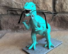 Aquarius the Aqua Dinosaur Gift , Co-Worker Smart Phone or iPhone Stand - Glasses or Candy Holder - Gift - Desk Accessory - Edit Listing - Etsy