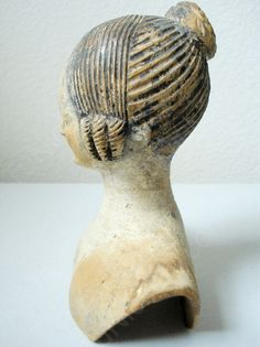 Anonymous Works: Circa 1840's Wooden Doll's Head