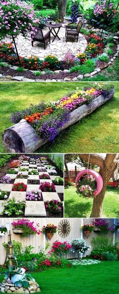 MENTŐÖTLET - kreáció, újrahasznosítás: Virágos kert Garden Yard Ideas, Diy Garden Projects, Easy Garden, Garden Crafts, Garden Beds, Flower Garden Design, Home Vegetable Garden, Front Yard Landscaping, Garden Planning