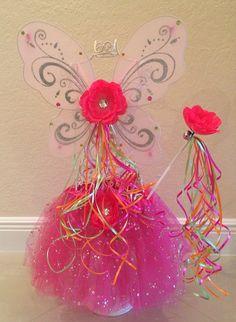 Pink tutu Pink Fairy Costume Fairy Wings Princess by partiesandfun