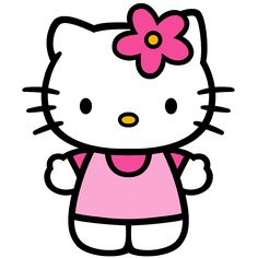 Hello+Kitty+with+Flower+in+ear+printables | hello kitty picture 300x300 Hello Kitty Party: DIY Ideas