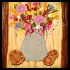 Flowers My Arts, Gardens, Flowers, Painting, Outdoor Gardens, Painting Art, Garden, Paintings, Royal Icing Flowers