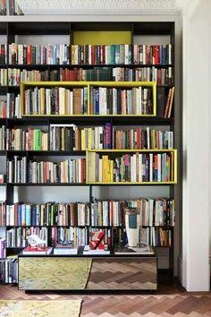 Old houses modern bookshelves