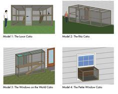 """Wonder if dad would be ok with a """"Catio"""" on the side or back yard?"""