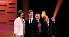 Benedict Cumberbatch photobombs himself at The Graham Norton Show [x] Interested in more of Benedict? Check my tumblr here : http://sherbatched-or-cumberlocked.tumblr.com