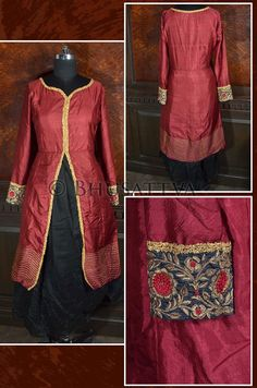 SW 4030- Certified #Organic Hand #Embroidered Layered #Kurta  Don't miss big ‪‎savings‬ on ‪‎organic‬ ‪‎fashion‬ as ‪‎shipping‬ is on us.  #Bhusattva - True Essence of Earth (http://www.store.bhusattva.com)
