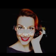 A pinup tutorial for short hair! Deff on my to-do list and my to-blog  List!  http://www.youtube.com/watch?v=ABfZcTM6--g=youtube_gdata_player