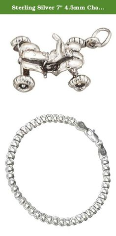 Sterling Silver 7 4.5mm Charm Bracelet With Attached 3D Bath Robe Clothes Charm