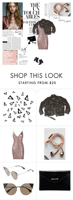 """""""oh you should've known better // BBL"""" by elaineeeee ❤ liked on Polyvore featuring Nika, Happy Plugs, Fendi, M2Malletier, Pierre Hardy, Casetify and Giuseppe Zanotti"""