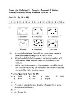 Printables Elements Compounds Mixtures Worksheet chemistry worksheets with answer key worksheet pinterest elements compounds and mixtures key