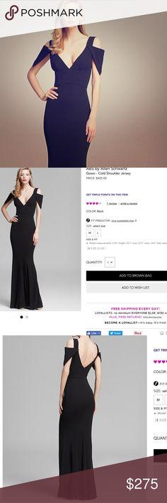 ABS by Allen Schwartz cold shoulder gown ❗️‼️ Brand new! Never worn, beautiful, black,  jersey gown.. Great for a wedding or prom ❗️ ABS Allen Schwartz Dresses