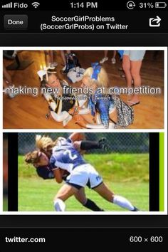 Lol no offense to any cheerleaders out there but this is how we make friends were not as friendly as we do it