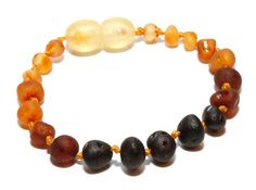 Genuine Raw Baltic Amber Baby Teething Bracelet/Anklet by BLTAmber, $5.29