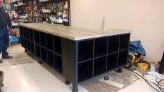 We Used IKEA Components To Build A Massive Cash Wrap Counter For Our  Petstore. It Main Cash Wrap Counter Consists Of 5 IKEA KALLAX Shelving Unit.