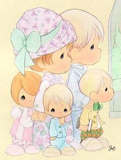 precious moments images clipart | My family and friends