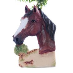 Bay Horse Ornament personalized horse Christmas by Christmaskeeper, $13.95