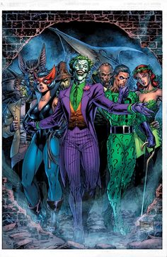The Joker Anniversary Super Spectacular from DC Comics – by Jim Lee, inks by Scott Williams inks and colors by Alex Sinclair. In-stores on April Comic Book Villains, Gotham Villains, Dc Comic Books, Dc Comics Characters, Comic Book Artists, Comic Art, Joker Comic Book, Heroes Comic, Joker Dc Comics