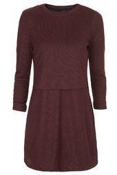 Linear Jersey Overlay Dress