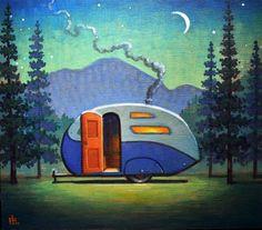 "Daily+Paintworks+-+""Campsite""+-+Original+Fine+Art+for+Sale+-+©+Robert+LaDuke"