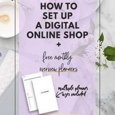 How to Set Up a Digital Online Shop with Free Monthly Overview Planners Printable Planner, Free Printables, Filofax Refills, Refillable Planner, Planner Inserts, How To Introduce Yourself, Online Shopping, Cards Against Humanity, Digital