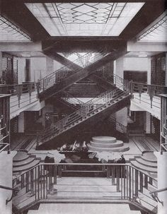 Art Deco staircase by Raymond Subes (other Art Deco interior selections on page) #artdecointeriors
