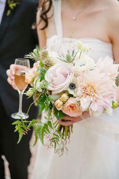 Fall Blue Hill Farm Wedding floral bouquet wine