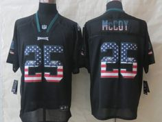 Philadelphia Eagles 25 McCoy USA Flag Fashion Black 2014 New Nike Elite Jerseys