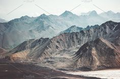 The color scheme and details is all I have to say about this breathtaking image. Mountains Landscape Travel aerial by e v e r s t #ad  https://creativemarket.com/