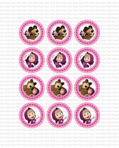 DIGITALE Masha e orso toppers stampare voi di KabooStudioDigitals