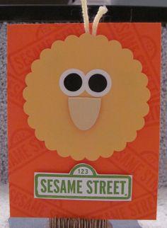 Big Bird handmade kids greeting card Sesame Street by The Royal Pumpkin on The CraftStar #thecraftstar #uniquegifts