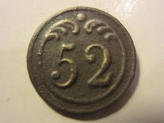 Bouton plat 52° régiment d'Infanterie - 1° Empire - 15 mm - button   eBay