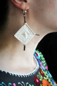 God's Eye Earrings-- maybe a little smaller