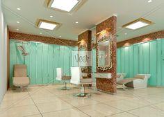 Small Hair Salon Design Love the walls to petition the basins Small Hair Salon, Coiffure Hair, Home Salon, Small Room Design, Salon Style, Palette, Salon Design, Barber Shop, Architecture