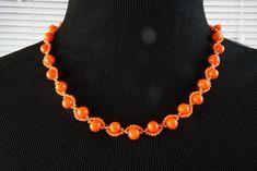 Oranje koraal ketting roze koraal ketting, natuur koraal ketting, echte koraal ketting, handgemaakte halsketting, perfecte gift voor haar